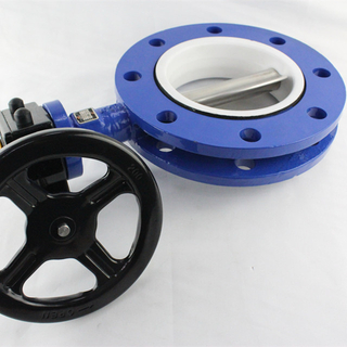 U Type Double Flange Butterfly Valve
