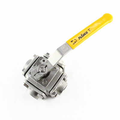 Lever Operated 4-Way Stainless Steel Ball Valve