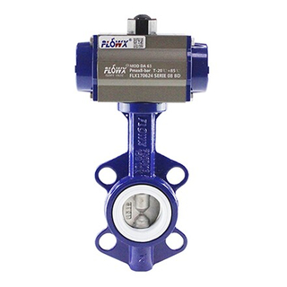 FLOWX VALVE Resilient Seated Motorized Pneumatic Wafer Butterfly Valve