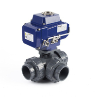 Electric Actuator 3-Way True Union Ball Valves