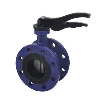 Lever Operated Double Flange WCB Body Butterfly Valve