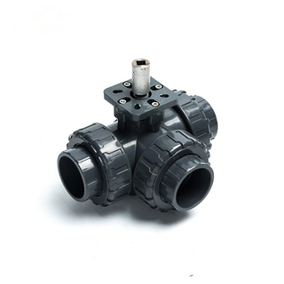 3-Way PVC Union Connection Ball Valve