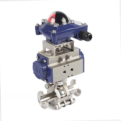 Pneumatic 3-Piece Clamp Ball Valves