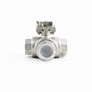 3 Way Thread Connection Stainless Steel Ball Valve