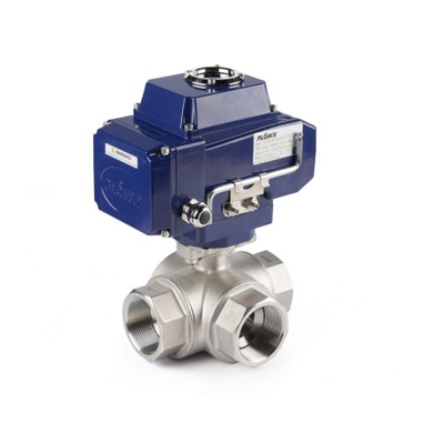 Electric Actuator 3-Way Thread Ball Valves