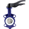 Manual Operated Ductile Iron PTFE Seat Wafer Butterfly Valve