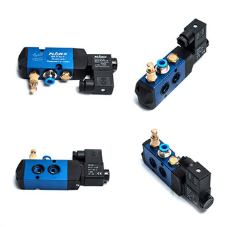 Tube-mounted solenoid valve