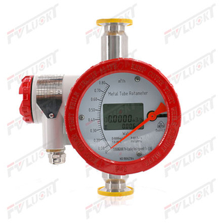 Clamp Connection Metal Float Flowmeter with Explosion Proof Housing