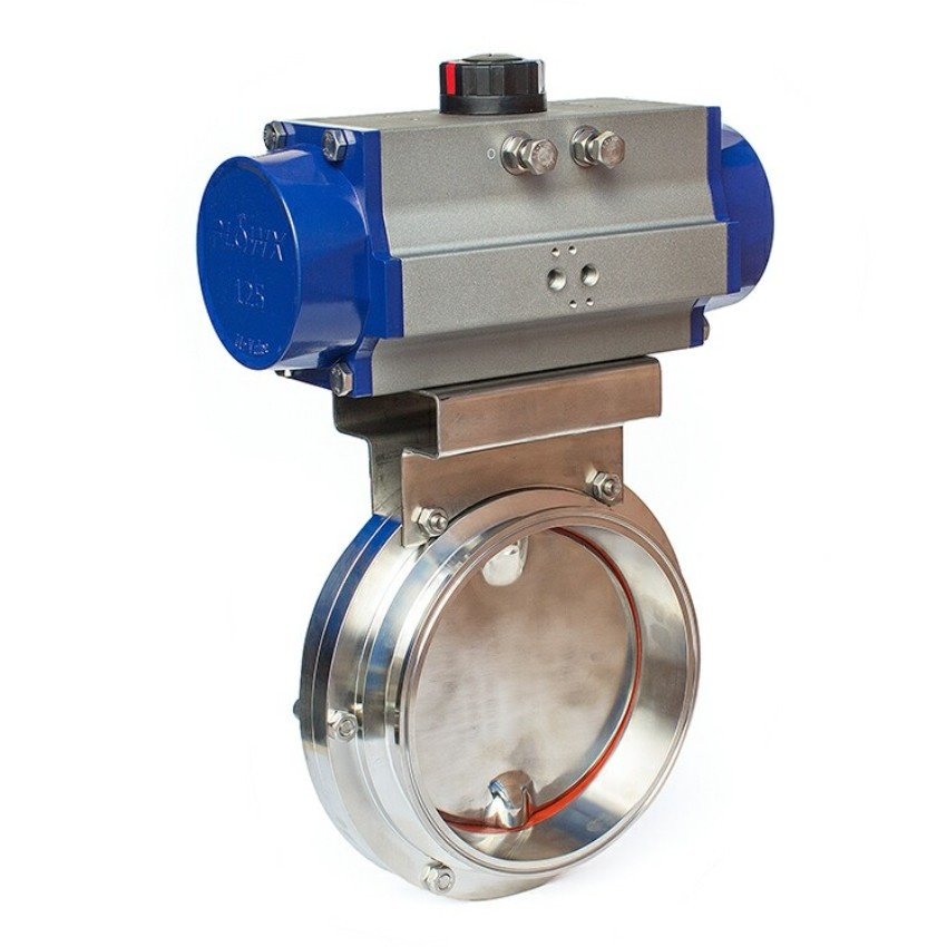 Sanitary Butterfly Valve With Pneumatic Actuator