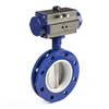 pneumatic actuated butterfly valve working